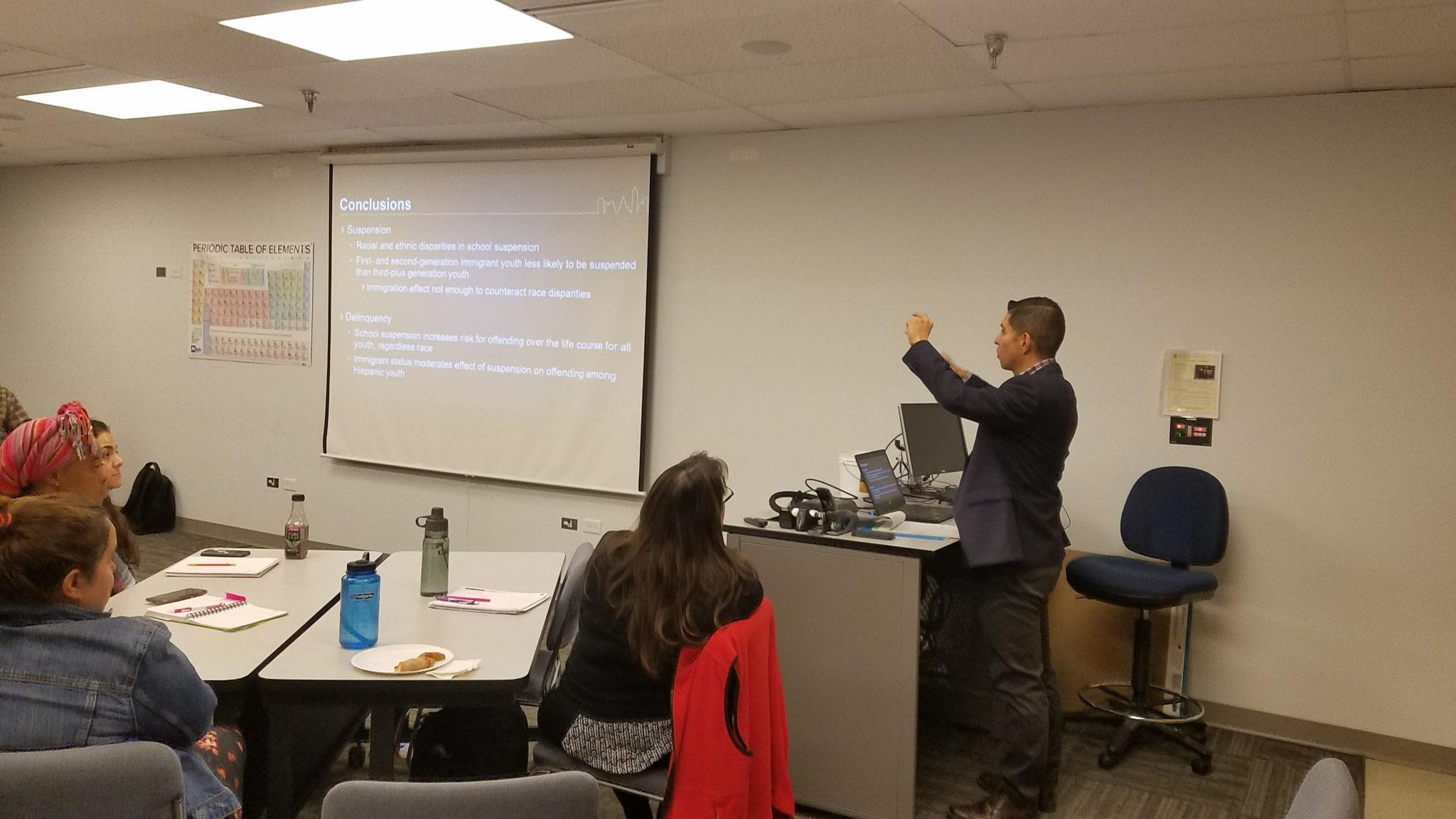 Image of Jorge Chavez lecturing at Faculty Symposium