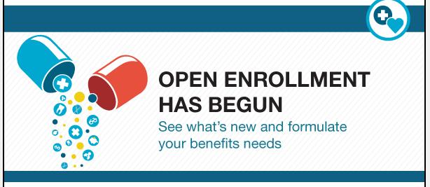 Open Enrollment Has Begun - image from Employee Services