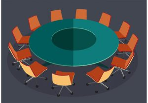 Graphic of roundtable
